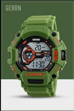 Водостойкие часы Skmei 1233 зеленые