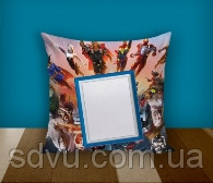"""Подушка з місцем для сублімації А4 формату """"Superheroes"""""""
