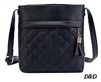 Жіноча сумка на плече чорна, фото 1