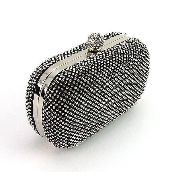 Клатч-бокс из камней женский вечерний выпускной черный Rose Heart 2614