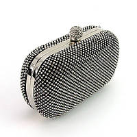 Клатч-бокс из камней женский вечерний выпускной черный Rose Heart 2614, фото 1