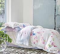 Комплект постельного белья евро  Arya бамбук Oceane с ракушками