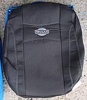 Автомобильные чехлы на сидения PREMIUM NISSAN NOTE 2005-12г.з/сп закрытый тыл 1/3 2/3;подл;5подгол;п/подл;airbag