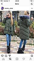 Элегантная зимняя женская курточка