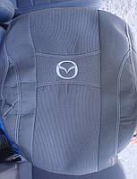 Автомобильные чехлы на сидения PREMIUM MAZDA CX-5 2013г...з/сп закрытый тыл и сид.из 3-х частей;5подгол;п/подл;airbag