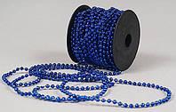 Бусы 147-842 пластиковые синие 4ммх15м BDi уп18
