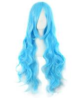 Парик женский голубой волнистый аниме карнавальный косплей cosplay длинный