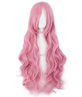 Парик женский розовый волнистый аниме карнавальный косплей cosplay