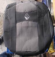 Автомобильные чехлы на сидения PREMIUM RENAULT KANGOO II 2008г…з/сп закрытый тыл и сид.1/3 2/3;5подгол;п/подл;airbag