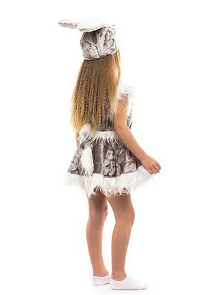 Карнавальный костюм Зайка серая мех, фото 2