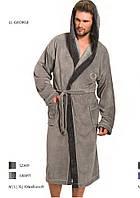 Чоловічий халат L&L GEORGE з капюшоном  XXL