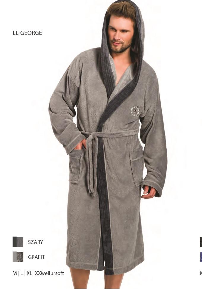 4ffbe7604442 Чоловічий халат L&L GEORGE з капюшоном XXL, цена 979 грн., купить ...