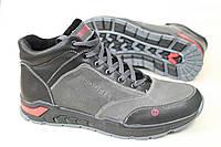 Мужские зимние кожаные ботинки Merrell серого цвета (990)