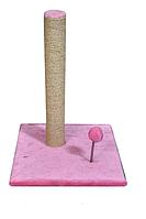 Когтеточка Пружина столбик из джута с игрушкой на пружине для кошек 52 см