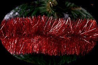 Мішура Новогодько 75 мм. Червона 2 метри