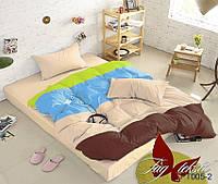Постельное белье на молнии, постельное для семьи, разные цвета, два пододеяльника, состав ткани хлопок, APT005-2