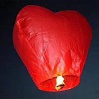 """Небесный летающий фонарик """"Сердце""""., фото 1"""