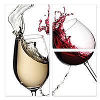 Модульная картина бокалы с вином