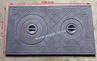 Плита чугунная печная 410х710 мм, фото 1