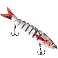 Воблер в виде реальной рыбки на 8 секций.