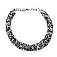 Серебряный браслет Кармен  925 пробы с чернением