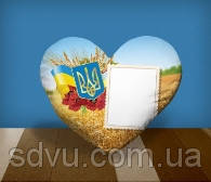 "Подушка сердце с местом для сублимации А4 формата ""Ukraine"""