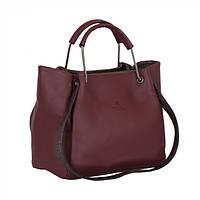 Женская сумка с двумя парами ручек Tessera T37923-802 бордовая