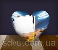 "Подушка сердце с местом для сублимации А4 формата ""Football"""