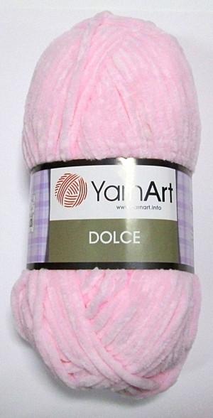 Пряжа DOLCE Плюшевая, нежно-розовая