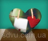 "Подушка сердце с местом для сублимации А4 формата ""Love Message"""