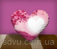 "Подушка сердце с местом для сублимации А4 формата ""Romance"""