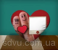 "Подушка сердце с местом для сублимации А4 формата ""Love you"""