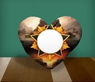 "Подушка сердце с местом для сублимации А4 формата ""World of Tanks"""