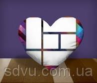 "Подушка сердце с местом для сублимации А4 формата ""Collage"""