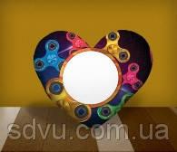 "Подушка сердце с местом для сублимации А4 формата ""Spinners"""