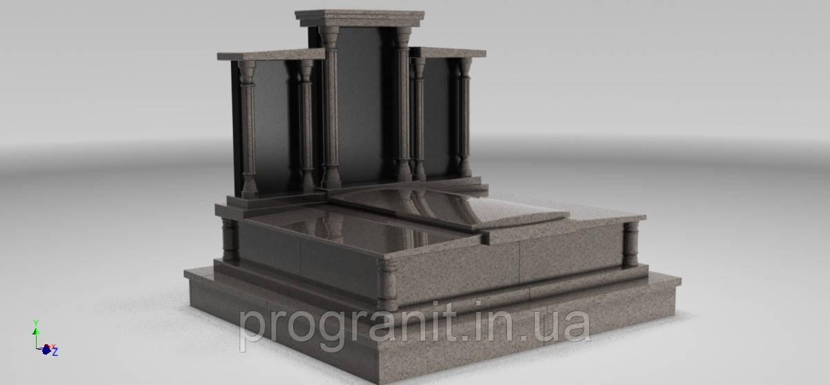 Памятник мемориальный тройной