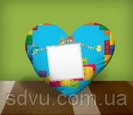 """Подушка сердце с местом для сублимации А4 формата """"LEGO"""""""