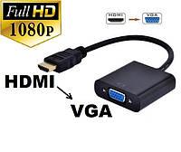 Конвертер видеосигнала HDMI в VGA без аудио звук с вашего монитора стелает телевизор