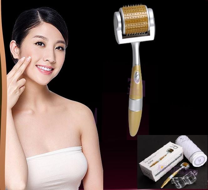 Мезороллер-дермароллер для обличчя і шкіри голови - ZGTS - 0,5, 1 ММ (ЗОЛОТЕ НАПИЛЕННЯ).