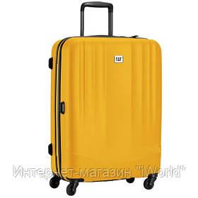 Дорожный чемодан из полипропилена на 4-х колесах (средний) Cat Turbo Trolley желтого цвета