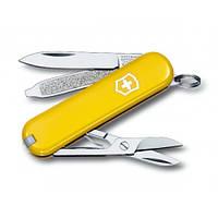 Нож Victorinox Classic SD 0.6223.8 желтый, фото 1