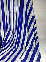 Шторы в синюю полоску