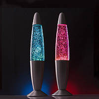 Глиттер лампа с блестками, ретро светильник, 41 см