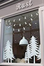 Новогодний декор из пенопласта - елки, снежинки, олени, сани 4