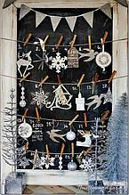 Новогодний декор из пенопласта - елки, снежинки, олени, сани 5