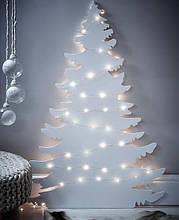 Новогодний декор из пенопласта - елки, снежинки, олени, сани 1