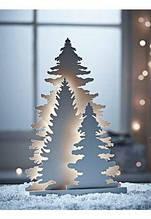 Новогодний декор из пенопласта - елки, снежинки, олени, сани 3