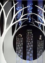 Новогодний декор из пенопласта - елки, снежинки, олени, сани 9