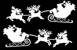 Новогодний декор из пенопласта - елки, снежинки, олени, сани 15