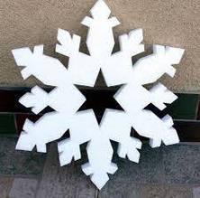 Новогодний декор из пенопласта - елки, снежинки, олени, сани 23